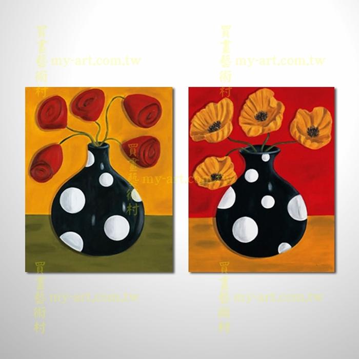 2拼花卉A27,藝術拼套畫,純手工油畫,客製臨摹抽象,居家佈置,門市,飯店,餐廳,民宿,辦公室,室內設計首選