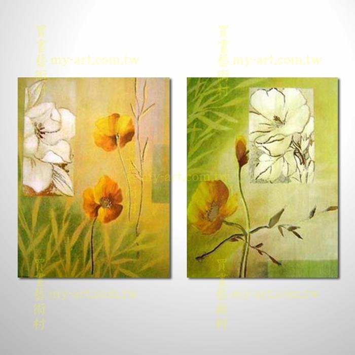 2拼花卉A28,抽象拼套畫,純手工油畫,客製臨摹抽象,居家佈置,門市,飯店,餐廳,民宿,辦公室,室內設計首選,居家設計師最愛