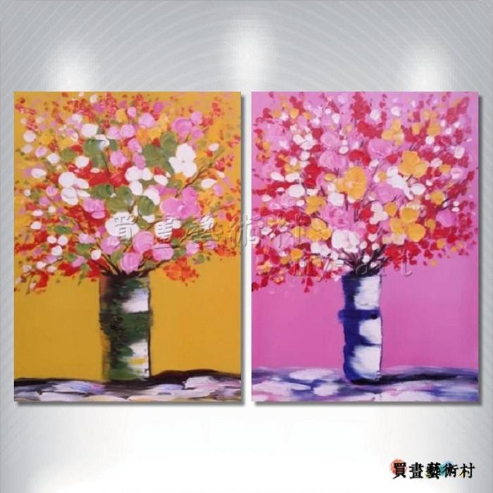 2拼花卉A31,裝飾藝術,客製化臨摹,純手繪,高品質油畫,客製臨摹抽象,居家佈置,門市,飯店,餐廳,民宿,辦公室,室內設計