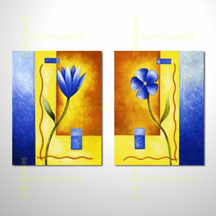 2拼花卉A34,藝術拼套畫,純手工油畫,客製臨摹抽象,居家佈置,門市,飯店,餐廳,民宿,辦公室,室內設計首選