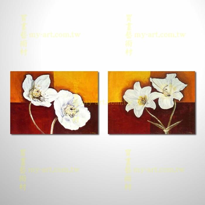 2拼花卉A39,藝術拼套畫,純手工油畫,客製臨摹抽象,居家佈置,門市,飯店,餐廳,民宿,辦公室,室內設計首選
