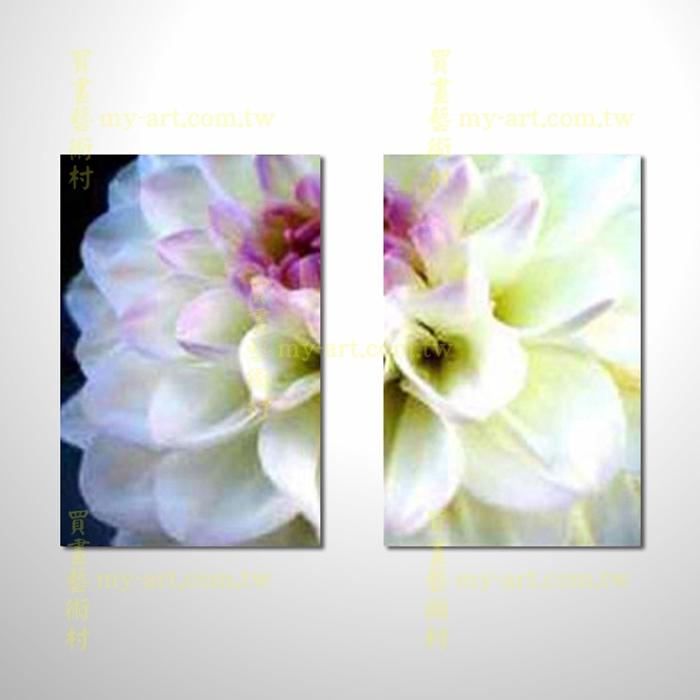 2拼花卉A41,純潔,白色花卉,藝術拼套畫,純手工油畫,客製臨摹抽象,居家佈置,門市,飯店,餐廳,民宿,辦公室,室內設計首選