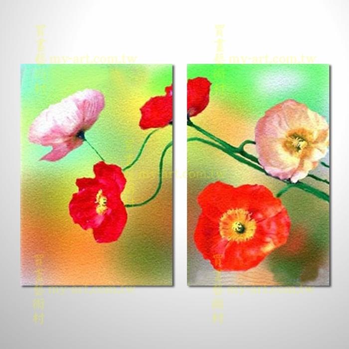 2拼花卉A42,藝術拼套畫,純手工油畫,客製臨摹抽象,居家佈置,門市,飯店,餐廳,民宿,辦公室,室內設計首選