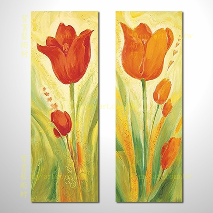 2拼花卉A55,客製臨摹抽象,純手工油畫,居家佈置,藝術拼套畫,門市,飯店,餐廳,民宿,辦公室,室內設計