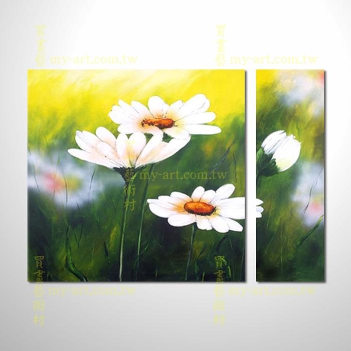 2拼花卉A58,客製臨摹抽象,純手工油畫,居家佈置,抽象拼套畫,門市,飯店,餐廳,民宿,辦公室,室內設計