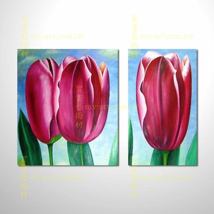 2拼花卉A62,純手工油畫,客製臨摹抽象,居家佈置,抽象拼套畫,門市,飯店,餐廳,民宿,辦公室,室內設計