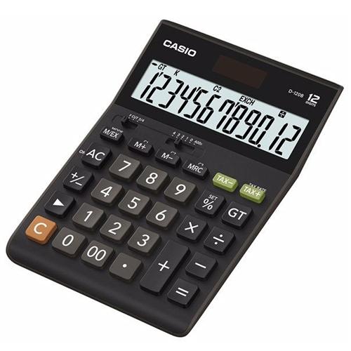 【CASIO卡西歐】 D-120B計算機太陽能稅率12 位