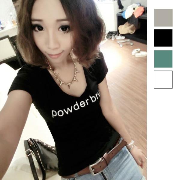 韓版百搭字母印花短袖T恤 現+預 ibella mode【91-8544】
