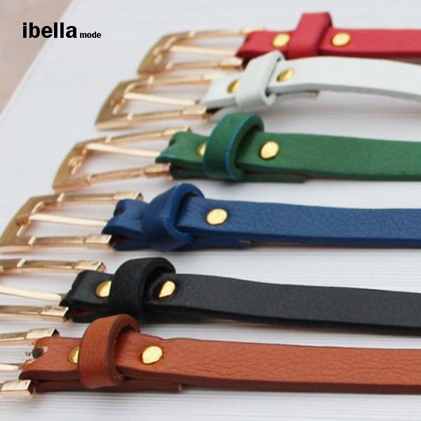 皮帶 韓國流行 時尚糖果色皮帶 9色 預購 ibella【77-288-2】