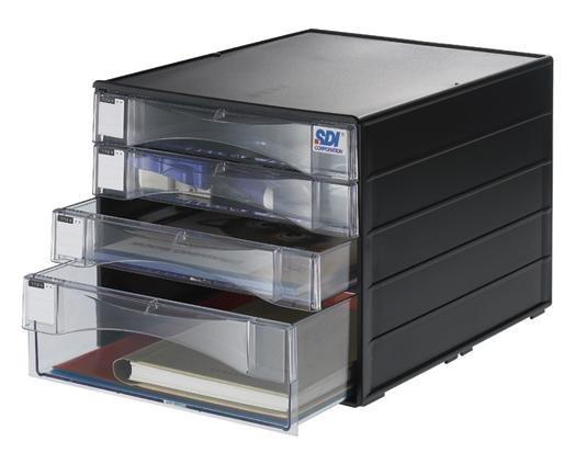 SDI 手牌 1848N 桌上型A4四層資料櫃