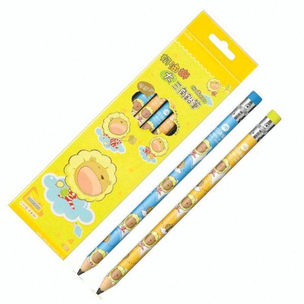 奶油獅50/4學齡前兒童專用鉛筆4支/盒