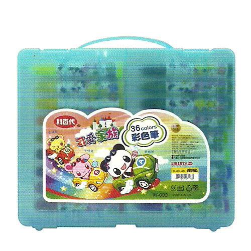利百代 W-003 可愛家族彩色筆36色
