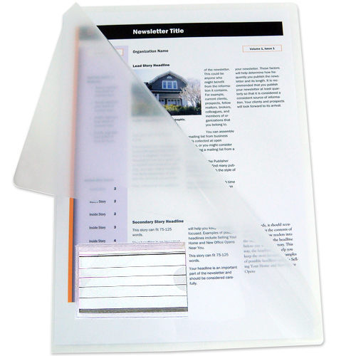 HFP WP 霧面壓花文件套加名片袋(10入)