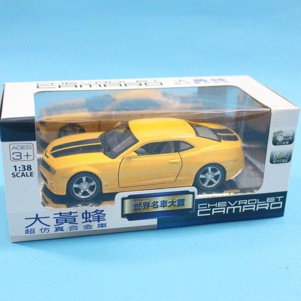 CHEVROLET CAMARO 大黃蜂 合金車 1:38 模型車 TOP306迴力車F032(白盒)/一台入{促199}