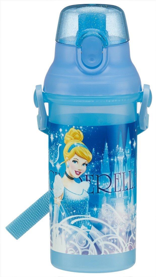 日本 Disnep 迪士尼  彈蓋直飲式水壺 (日本製) - 公主CINDERELLA 仙度瑞拉   兒童水壺