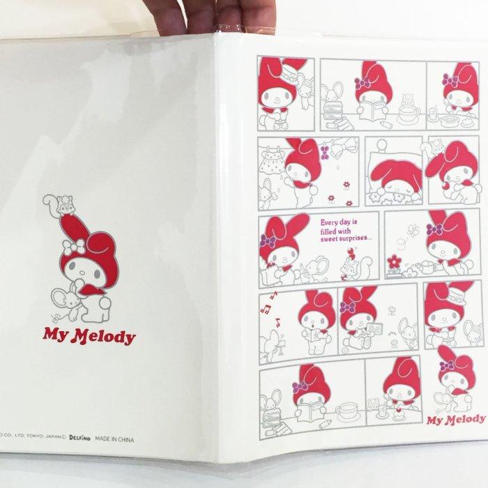 三折出清 美樂蒂 MELODY 日記本 記事本 筆記本 萬用年曆手冊 膠套 漫畫 文具 正版日本進口 JustGirl