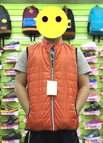 【巷子屋】男/女款滾邊科技保暖鋪棉背心外套 橘色 超值價$250