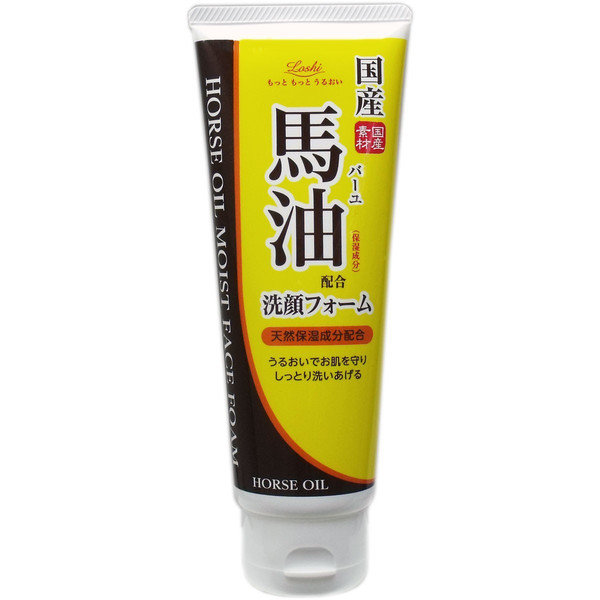 日本原裝進口Loshi Roland馬油保濕洗面乳 130g