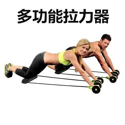 多功能拉力器-雙輪健腹器健身運動73pp74【獨家進口】【米蘭精品】