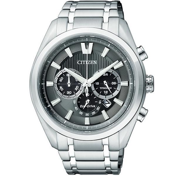 CITIZEN星辰CA4011-55H耀眼鈦光動能計時腕錶/灰面43mm