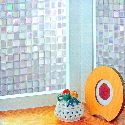 【零碼】日本MEIWA抗UV節能3D靜電窗貼 (馬賽克) - 92x40公分
