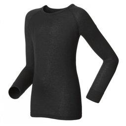 ├登山樂┤瑞士ODLO 機能保暖型排汗內衣-童 圓領 黑# 10459