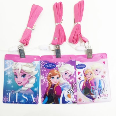 冰雪奇緣 艾莎 安娜 ELSA ANNA 吊帶 證件套 票卡夾 2卡位 配件 文具 正版日本授權 JustGirl