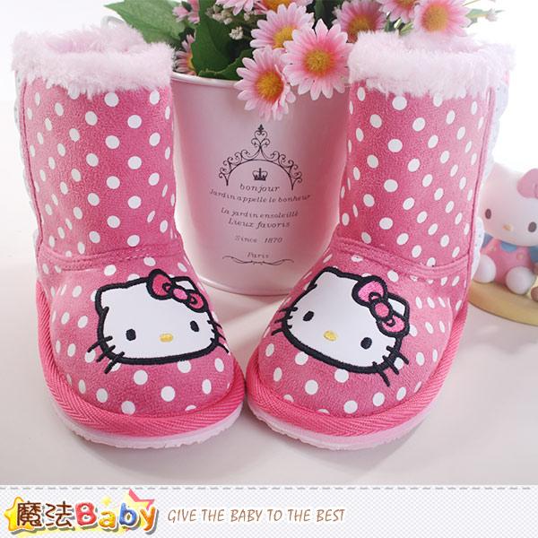 女童雪靴 Hello kitty授權正版長筒靴 魔法Baby~sh8817