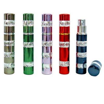 旋轉刻紋玻璃香水空瓶/香水瓶/補充瓶/隨身瓶 (不挑色) ☆真愛香水★