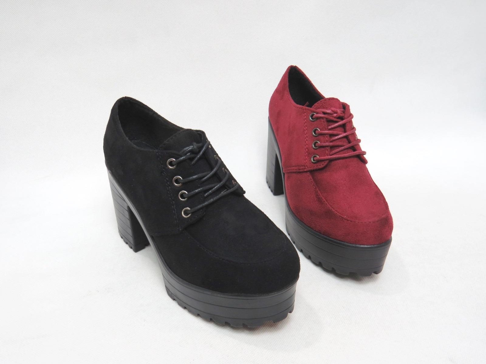 *免運*韓風帥氣厚底粗跟鞋帶圓頭包鞋15-M802(紅/黑)*[彩虹屋]* 現+預