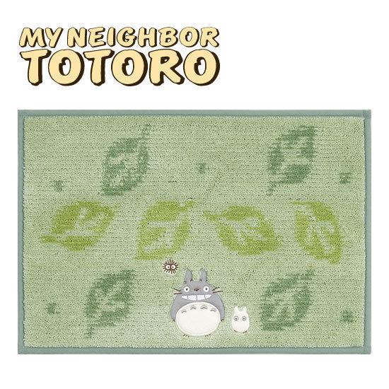 【真愛日本】13030800043 防滑地墊-綠葉電繡灰龍貓   龍貓 TOTORO 豆豆龍  地墊 居家 正品  預購