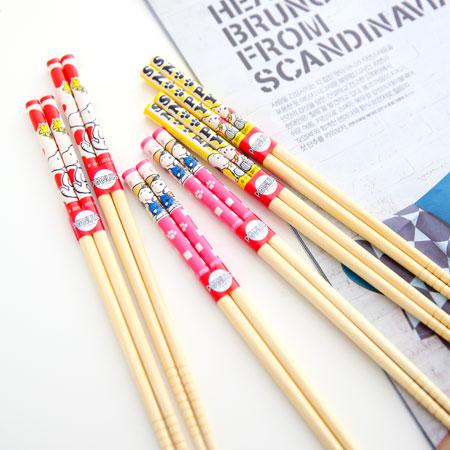 正版史奴比21cm竹筷(一組2入) 筷子 竹筷子 餐具 環保 Snoopy 史奴比 台灣製【B061157】