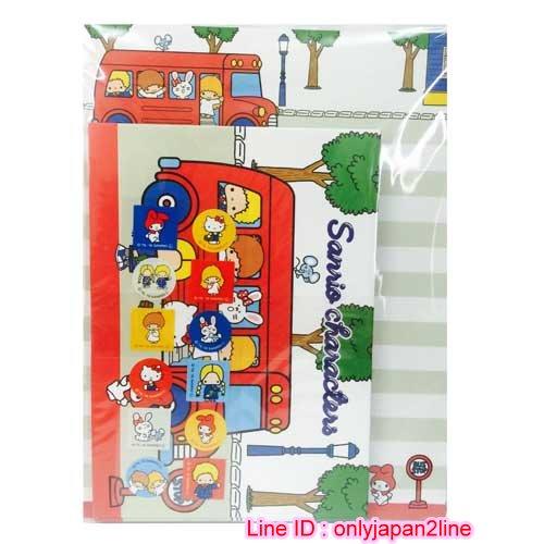 【真愛日本】16111900024日本製信組-70'S MX-公車紅   三麗鷗 Hello Kitty 凱蒂貓 信紙 便條紙 文具