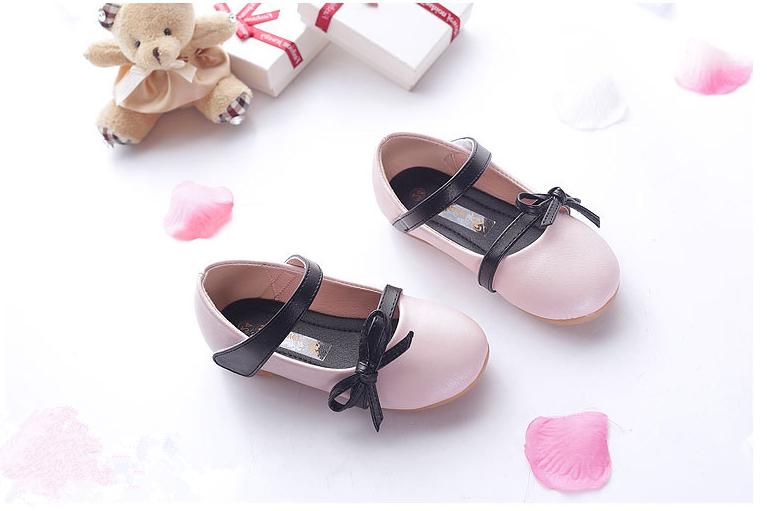 兒童粉色公主鞋單鞋