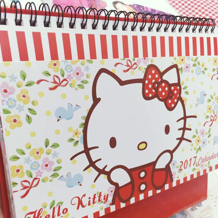 PGS7 (現貨+預購) 三麗鷗系列商品 - Hello Kitty 2017 收納 桌曆 月曆 日曆 行事曆 三麗鷗 凱蒂貓