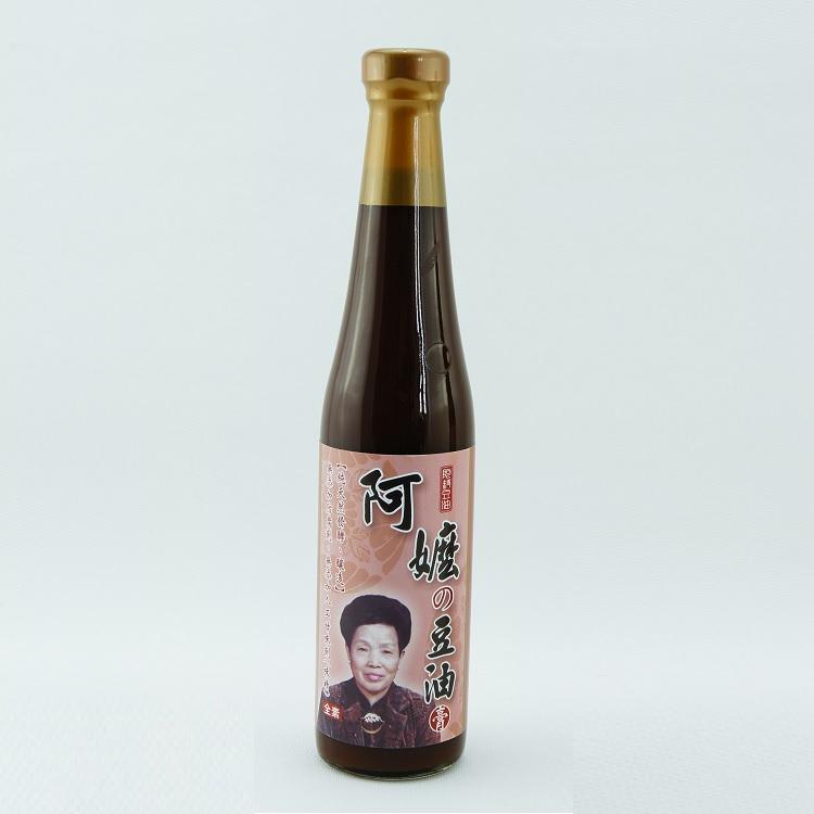 【阿嬤の豆油】傳統天然純釀黑豆醬油膏 (420ml/瓶) 以最自然的方式釀製,非一般化學醬油膏