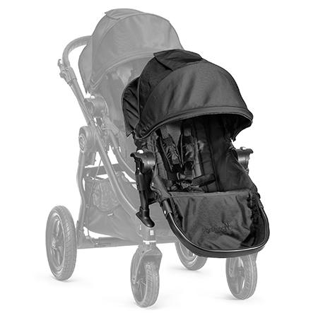 【淘氣寶寶●12/15~1/15買車加購二座 送MACLAREN輕便傘車】【黑框】2016年新款 Baby Jogger City Select 推車座椅(Second Seat)雙人第二座椅【公司貨】