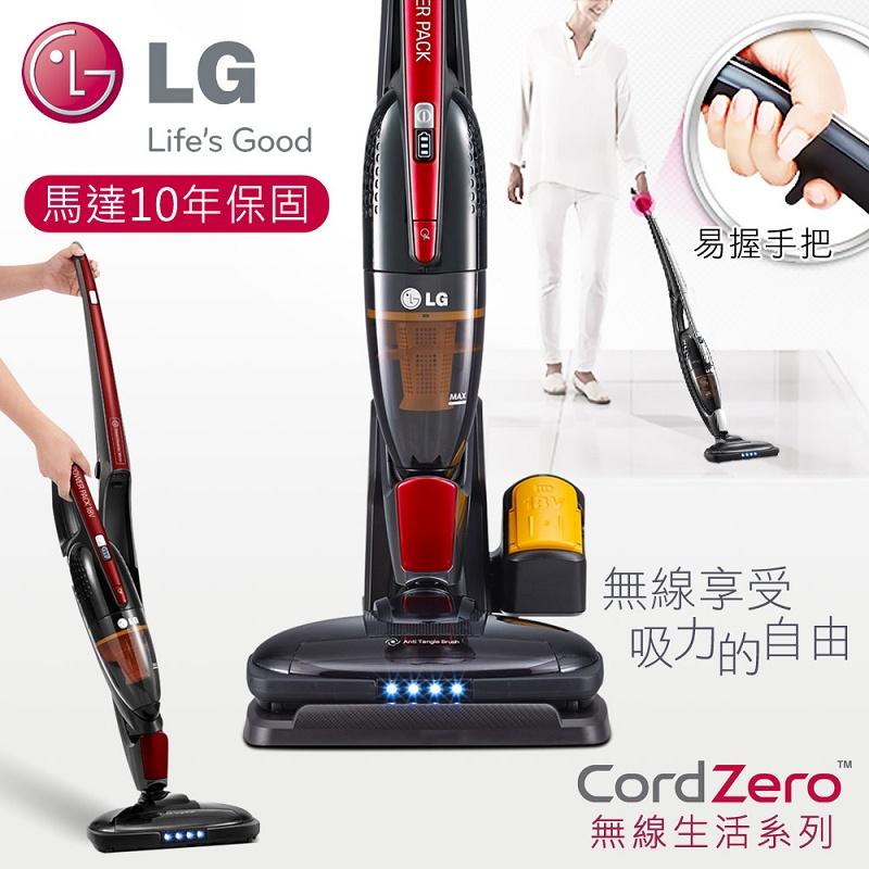 【LG樂金】手持/直立二合一無線吸塵器/寶石紅(VS8401SCW)★結帳折