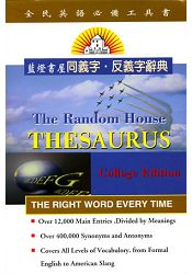 The Random House Thesaurus College Edition