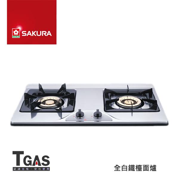 SAKURA櫻花 全白鐵檯面爐【G-252K】含基本安裝