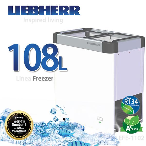 LIEBHERR德國利勃 108L玻璃推拉冷凍櫃【EFE-1102】