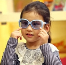 Kocotree◆新款糖果條紋兒童防紫外線太陽眼鏡-藍色條紋