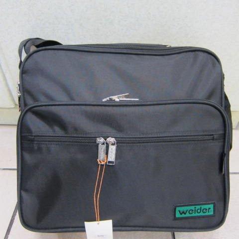 ~雪黛屋~weider 大型文件包 (橫式) 工作袋 工具袋 可手提肩背斜側背防水尼龍布材質#6001黑-綠
