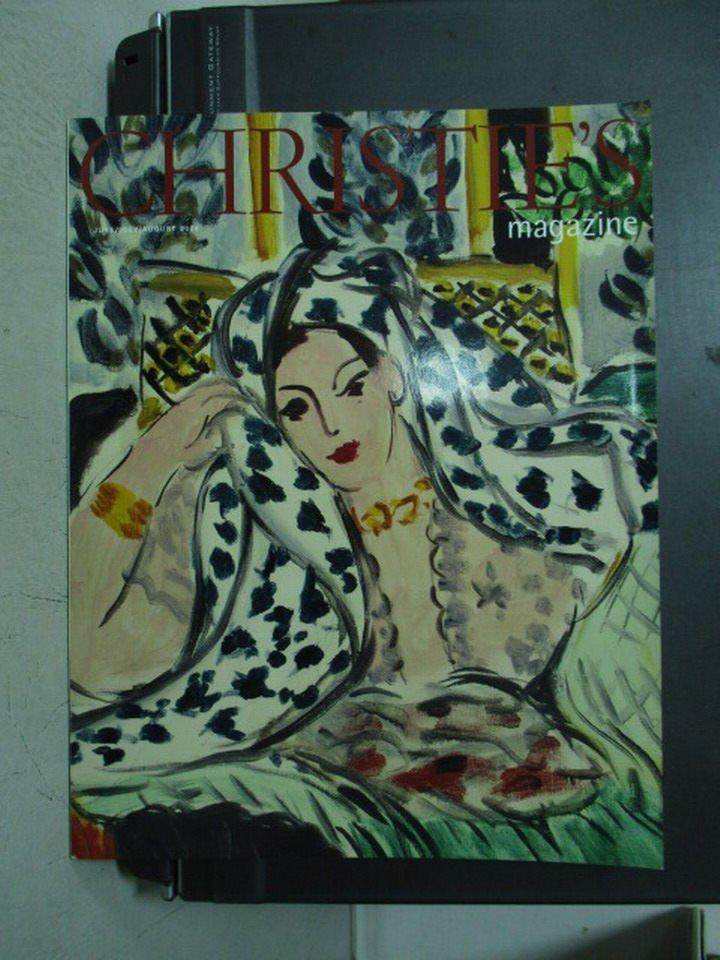 【書寶二手書T4/收藏_ZHI】Christie's magazine_2004/6-8