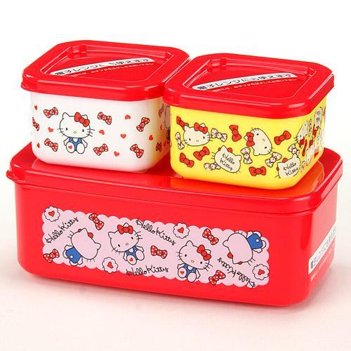 Hello Kitty 3P保鮮盒/723-579