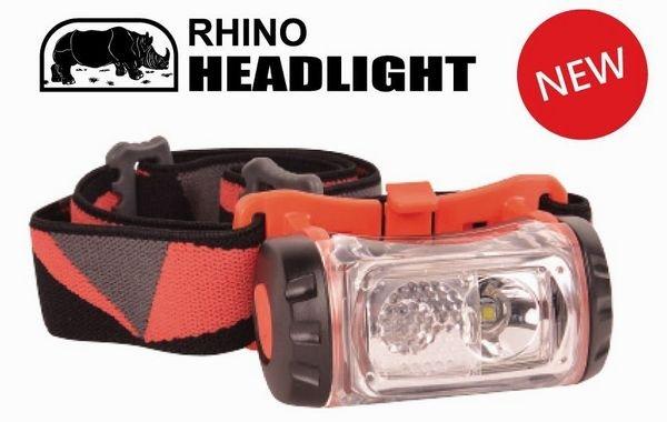 【露營趣】中和 犀牛 RHINO HL-500 180流明 強力雙光源LED頭燈 登山頭燈 工作頭燈 非Petzl