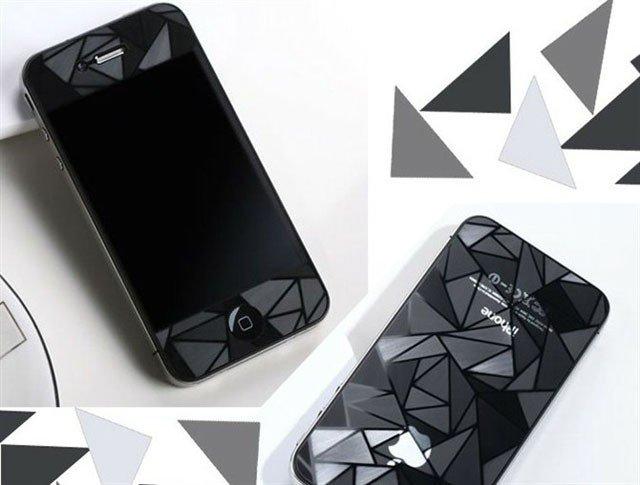 Apple iPhone 5/I phone 5 3D三角形螢幕保護貼 手機保護貼 螢幕保護貼 低反光 高清晰度 耐刮 抗磨 觸控順暢度高(單張)