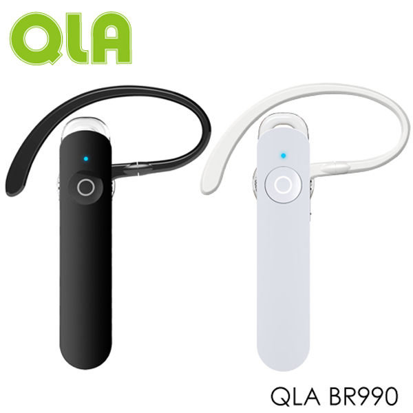 QLA BR990 BR-990 A2DP 1對2 立體聲芽耳機 iphone 電量顯示 藍牙V3.0 D 數位降噪技術 超輕量 公司貨 黑/白