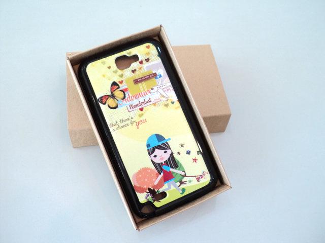 Samsung GALAXY Note2 N7100 特製 手機背蓋*局部 立體 浮雕 保護殼/手機殼/手機保護套/TPU/背蓋 女孩 運動 休閒