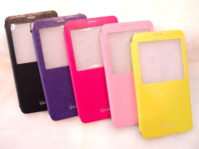 U case*Samsung Galaxy Note3 透視感應皮套/視窗/感應觸控/側掀/保護套/側開/掀蓋式/側翻/手機套/NOTE 3 N7200 N9000 N9005